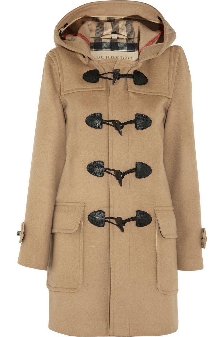 Burberry Brit|Wool-felt duffle coat|NET-A-PORTER.COM