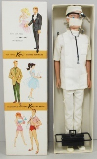 Barbie 0793 1960s Barbie Ken Dressed Box Doll Dr Ken