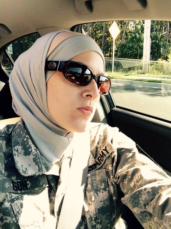 Muslim United States Army Solider; first hijabi solider!
