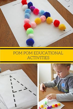Have you ever tried using pom poms as learning tools for your kids? You should! Although typically used for arts and crafts, these plush little balls come in a variety of sizes and colors that make learning fun! Check out these pom pom educational activities with free printable activity sheets from @ellaandanniemagazine! These activities are appropriate for grades Pre-K to 1.