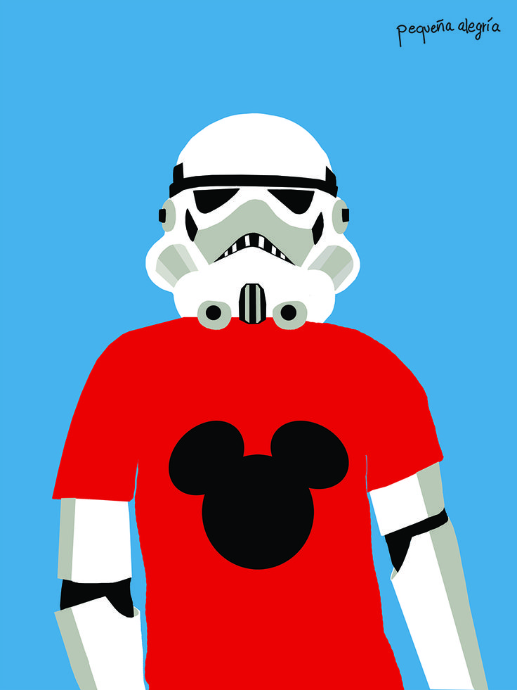 Star Wars go to Disney by @pequenalegria