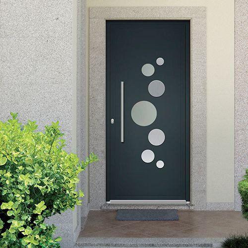 porte dentre aluminium emalu miami disponible en gris ou blanc de 80cm - Porte D Entree Design