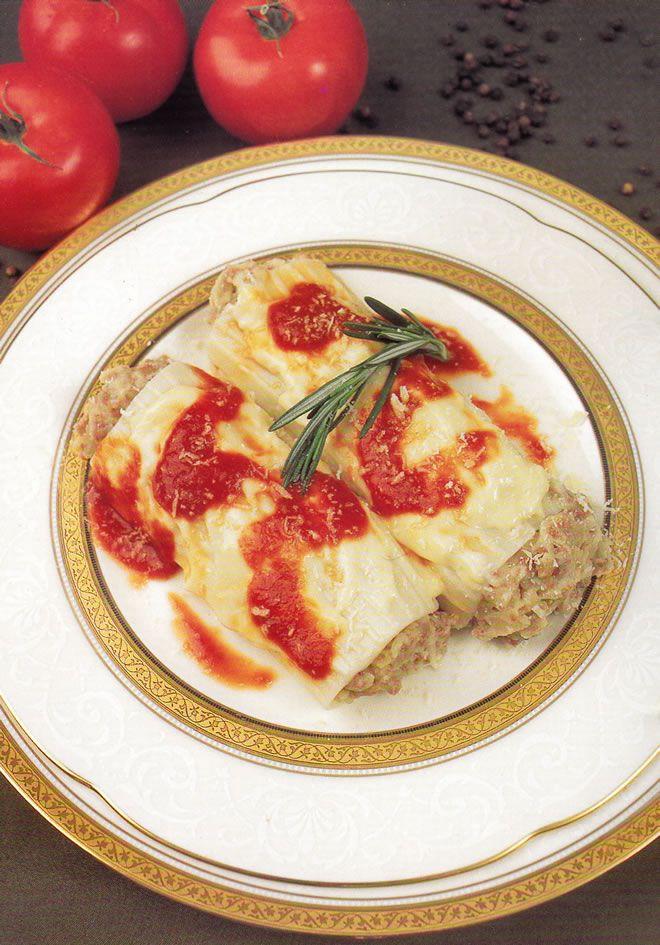 Canelones a la Bolognesa Recetas similares Ravioles a la Romana (para 4 personas) Pizza Napolitana (para 4 personas) Spaghetti Frutti di Mare (para 4 personas) Fettuccini a lo Alfredo (para 4 personas)