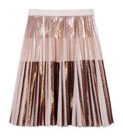 Proenza Schouler Pleated Rose Gold Skirt