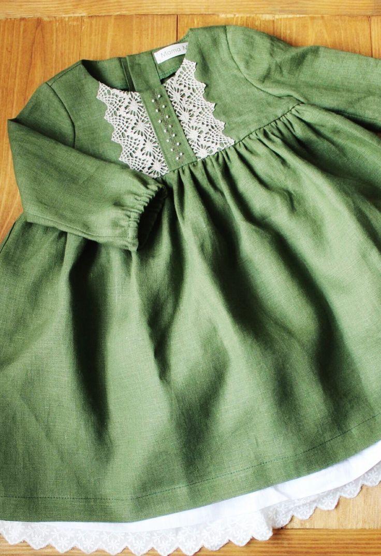 be97699d5 Little Girls Vintage Style Handmade Linen Dress   MamaMaraby on Etsy  #holidaydress