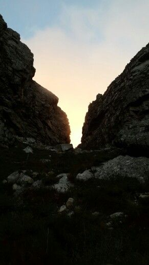 Just about to hit the summit of Platteklip Gorge, Cape Town