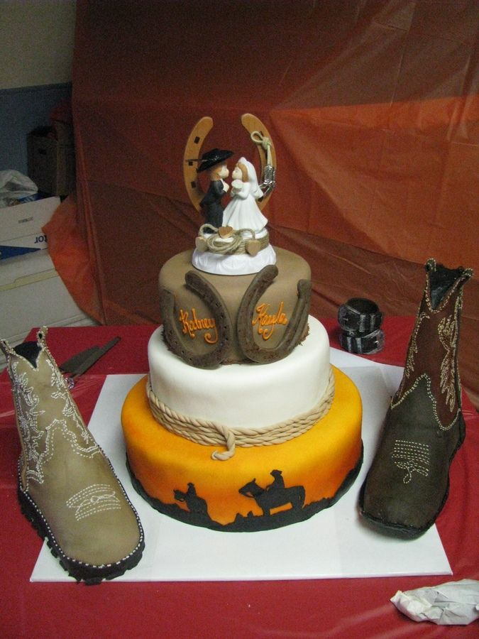 25 Best Cowboy Wedding Cakes Ideas On Pinterest Western