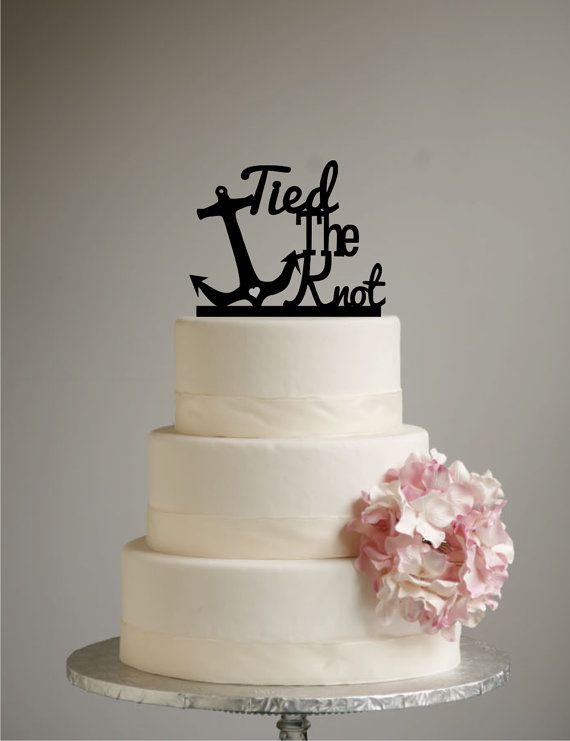 Hey, I found this really awesome Etsy listing at https://www.etsy.com/listing/182348094/beach-wedding-cake-topper-tied-the-knot