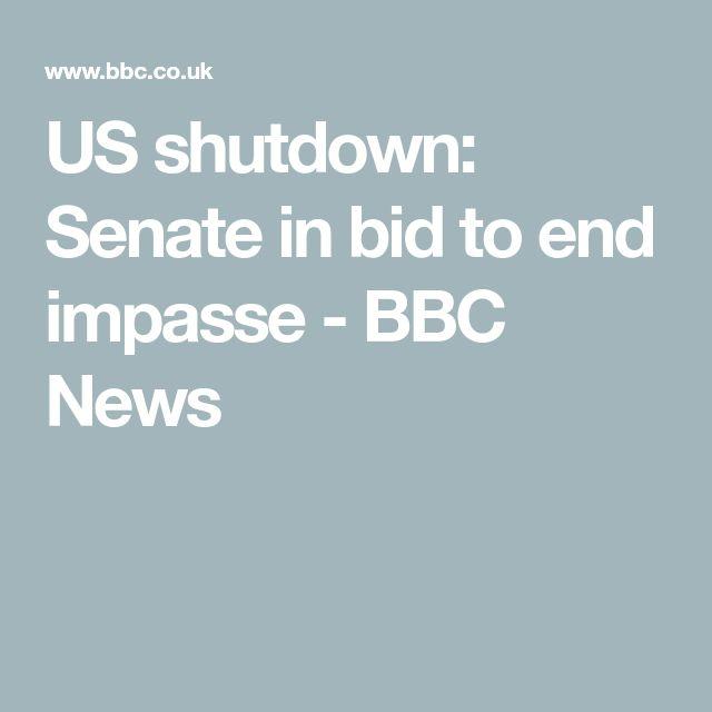 US shutdown: Senate in bid to end impasse - BBC News