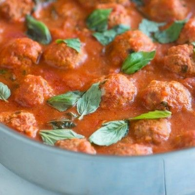 No lengthy cooking times and no searing the meatballs. Tender, moist and delicious turkey meatballs recipe