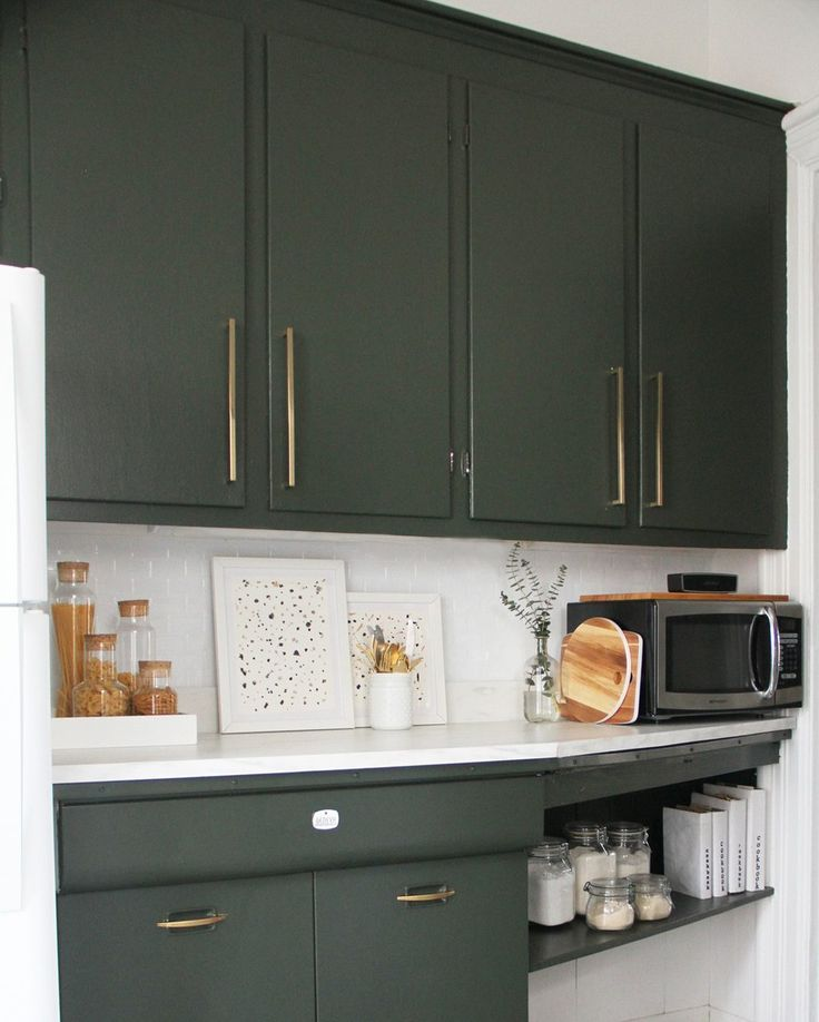 78 Best Ideas About Green Kitchen Cabinets On Pinterest