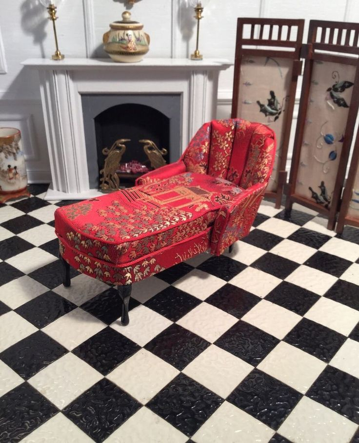 4684 best images about dollhouse miniatures on pinterest for Asian chaise lounge