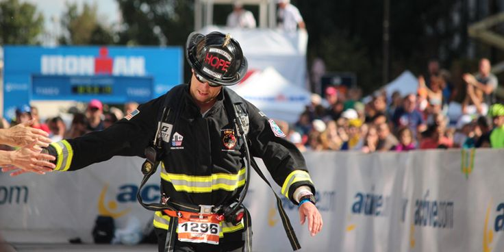 Performance of the Year Fireman Rob - finished 6 Ironman triathlons in full firefighter's gear.