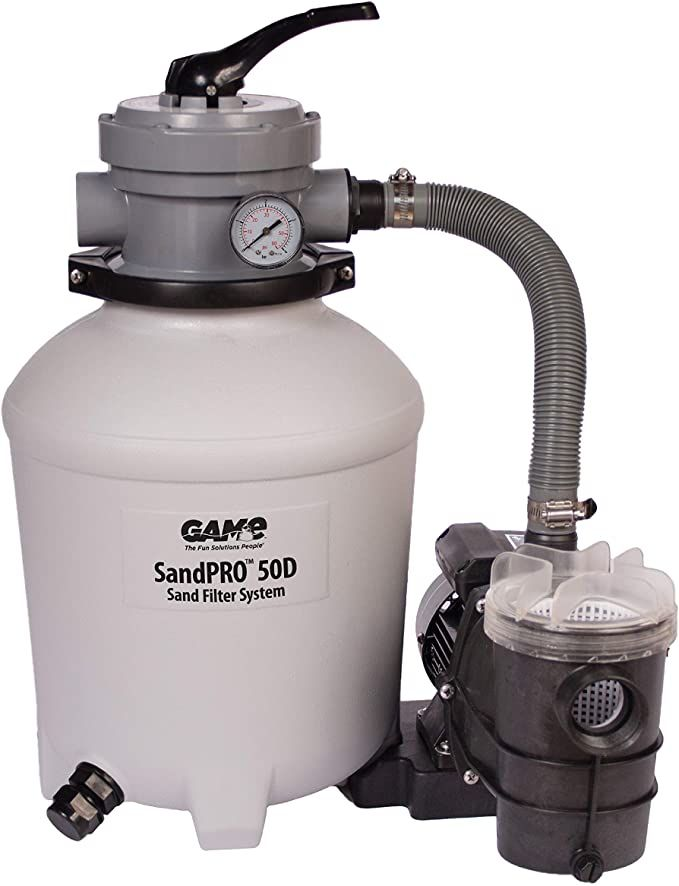 Amazon Com Game Sandpro 50d Series Complete 0 5hp Replacement Pool Sand Filter Unit Designed For Intex Bestway In 2020 Sand Filter For Pool Pool Sand Pool Filters