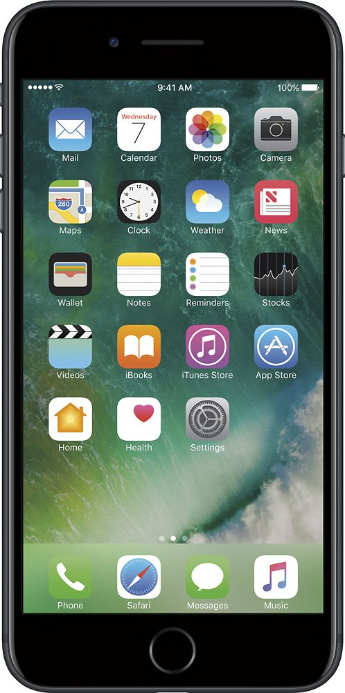 Apple - Geek Squad Certified Refurbished iPhone 7 Plus 32GB - Black (At&t)