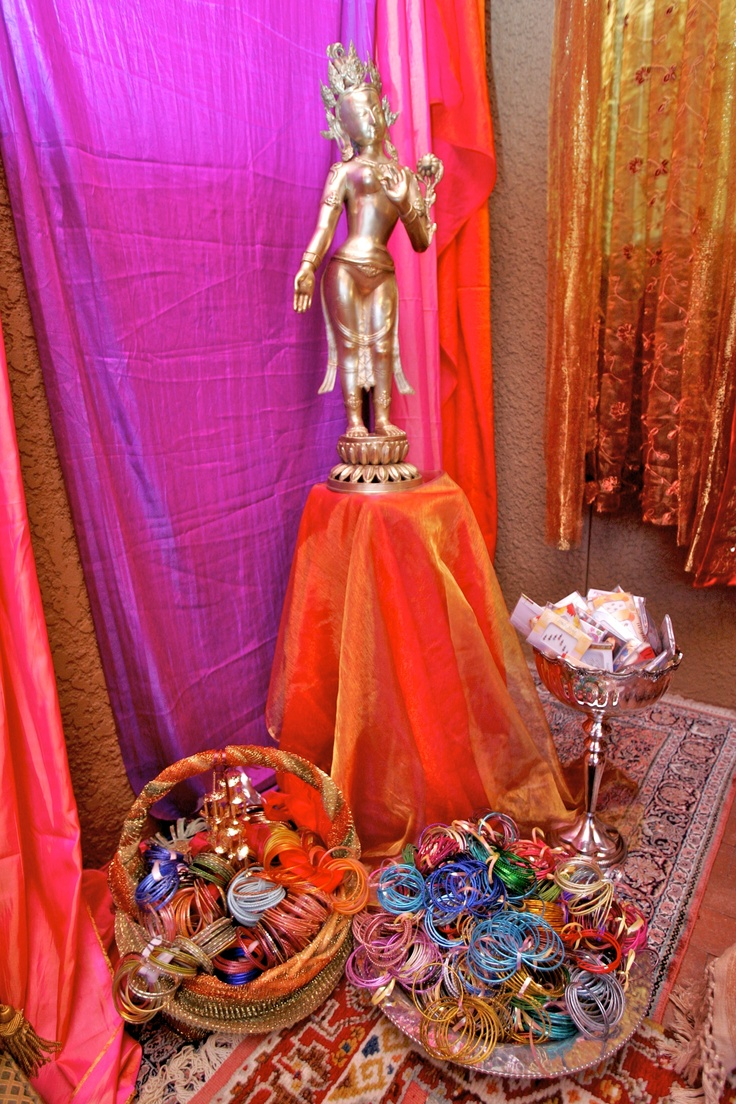 Bollywood Decorations, basket of bangles