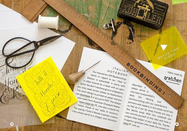 Bookbinding Tutorial in sisterMAG N°7 Spreads by Thea N., via Flickr