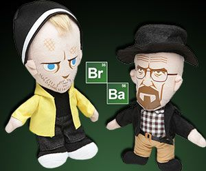 Breaking Bad Plush Dolls -- The vigorous duo of Walt and Jesse are backwardward and lovable than ever. The Breaking Bad lush figurine reconvene the fabulous match late further for a variety new set of scene alike hanging everywhere the bed, watching TV and helping you with your attractiveness homework.