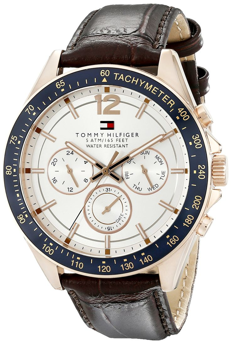 Tommy Hilfiger Men's 1791118 Sophisticated Sport Analog Display Quartz Brown Watch