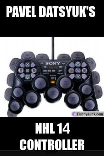 Pavel Datsyuk's NHL14 controller #hockey #NHL