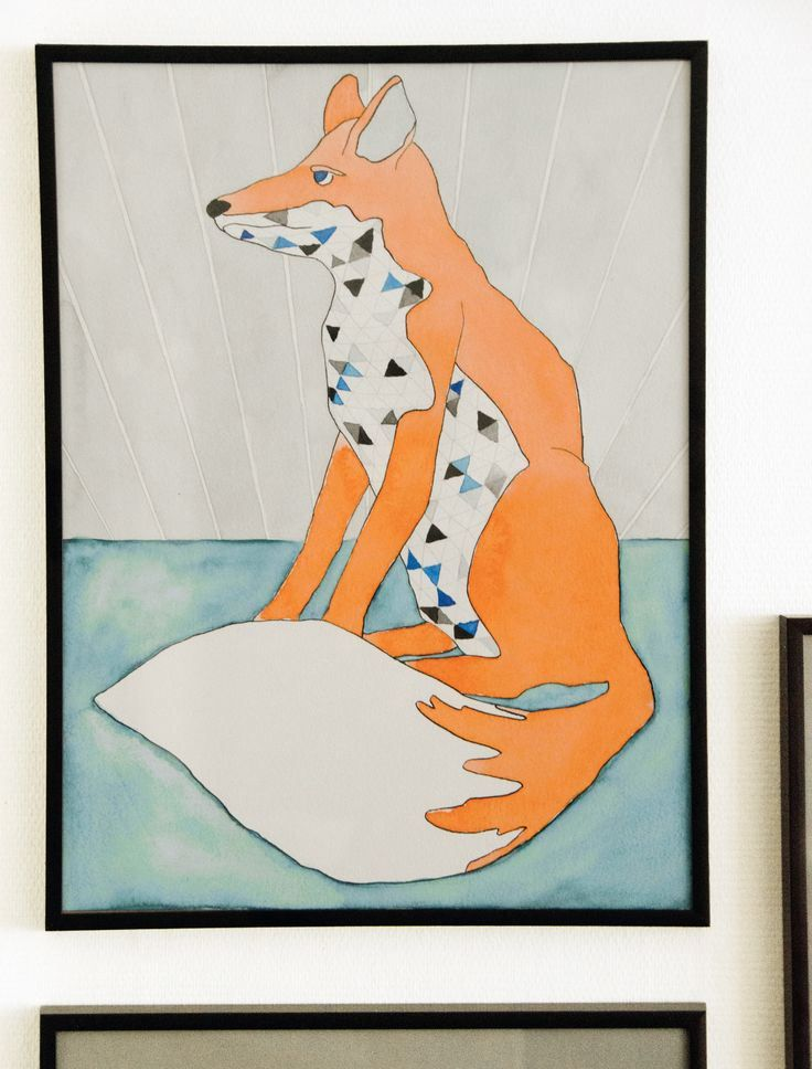 Fox. Watercolor Illustration by Katrine Mosegaard