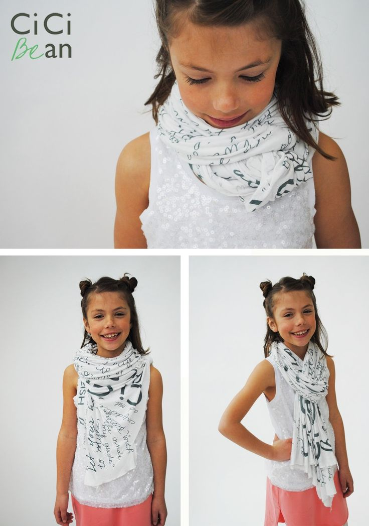 Three ways to style your scarf! | Cici Bean blog for tween girls. | www.letyourheartbeyourguide.blogspot.ca