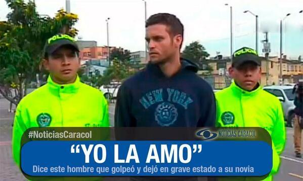 Hombre que dejó en cuidados intensivos a su novia tras golpearla dice que la ama   La mujer fue abordada por su pareja, modelo de profesión, cuando se bajaba de un taxi en Bogotá y fue agredida brutalmente.  http://www.noticiascaracol.com/nacion/video-323393-hombre-dejo-cuidados-intensivos-a-su-novia-tras-golpearla-dice-la-ama