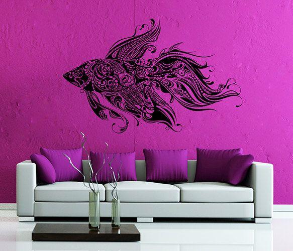 kik37 Wall Decal Sticker  decorative fish animal goldfish living room bedroom