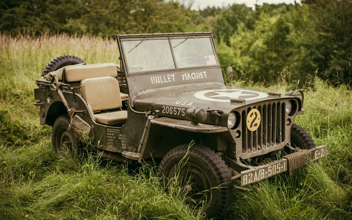 Download wallpapers SUV WWII, Willys MB, World War II, US military SUV