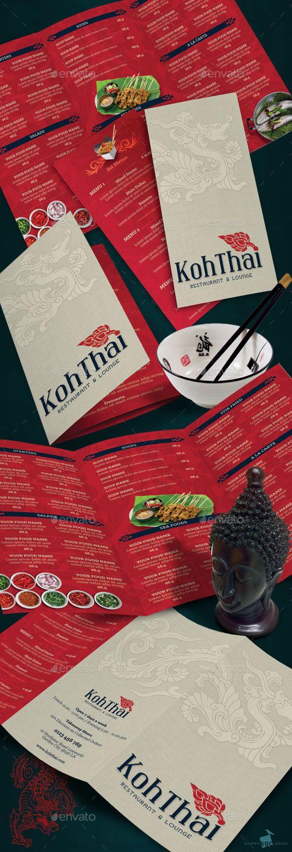Thai Restaurant Menu — Photoshop PSD #thailand #eastern • Available here → https://graphicriver.net/item/thai-restaurant-menu/8921308?ref=pxcr