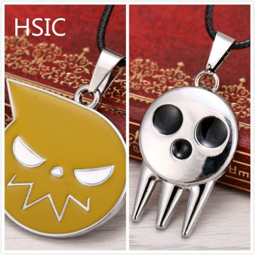HSIC Anime Soul Eater Death the Kid Pendant Necklace Metal Necklace HSIC10466 Christmas Gifts