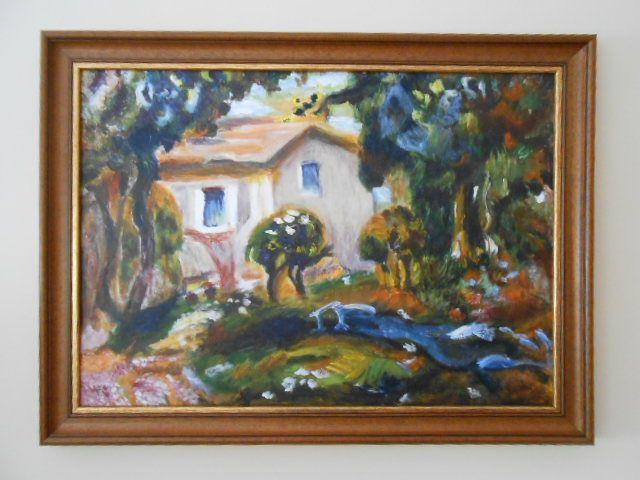 Házikó repro, akrilfestmény, 40x50 cm vászon
