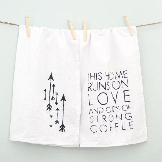 These little tea towels are so easy to make click through