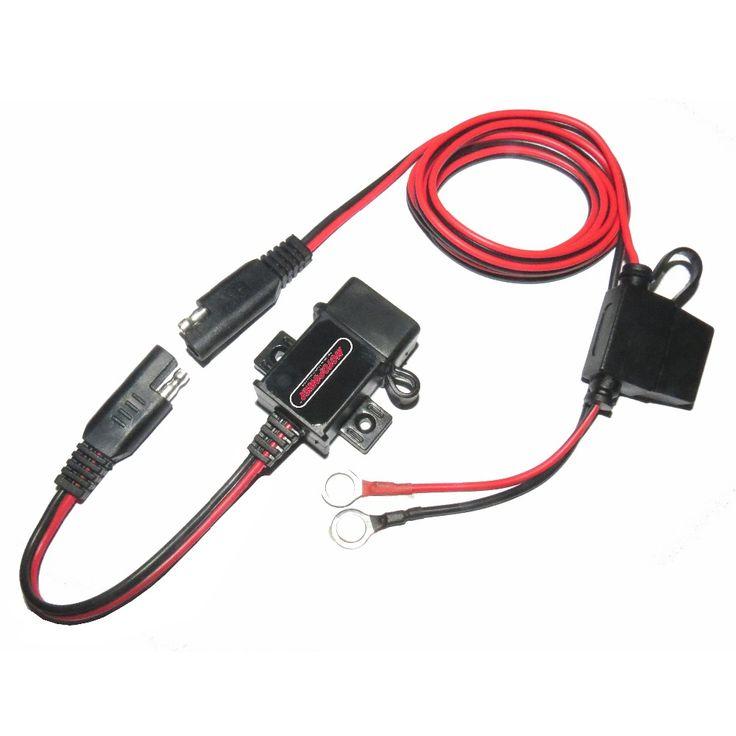 3.1amp Водонепроницаемый Автомобиль Мотоцикл DIY USB Зарядное Устройство Порт Розетка с SAE Быстрого Отсоединения Комплект