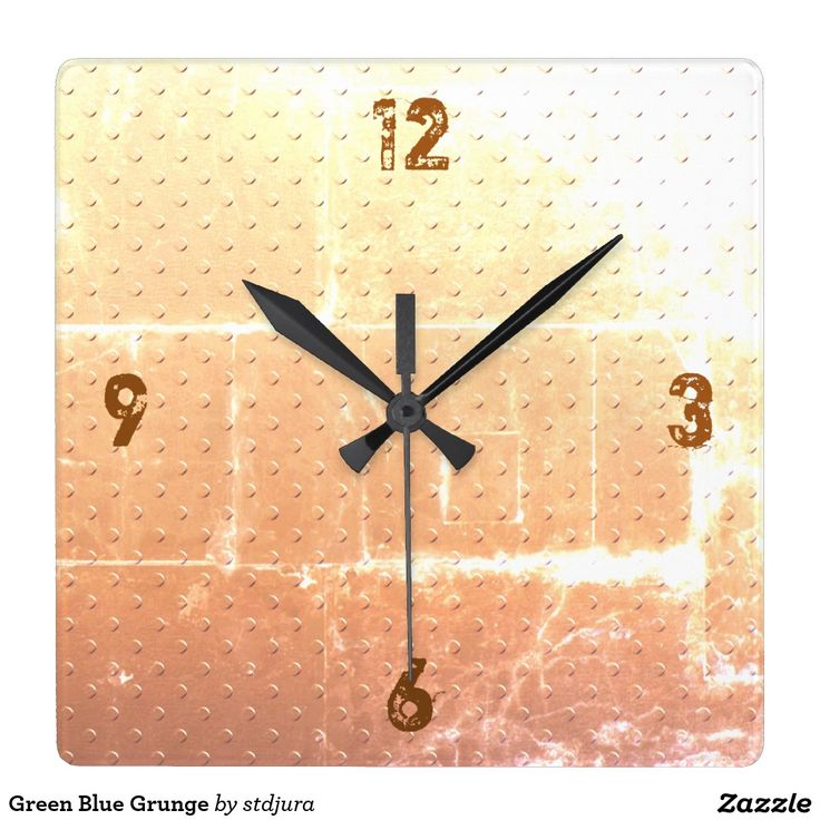 Vintage Rusty Faux Metal Texture Look Square Wall Clock   #Vintage #Rusty #Faux #Metal #Texture #Look #Square #Wall #Clock #zazzle
