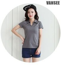 soft contton spandex plain slim fit polo t shirt for women  best buy follow this link http://shopingayo.space