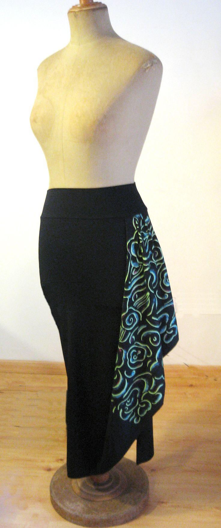 Falda drapeada estampada de la colección Wabi-Sabi. Invierno 2008 #Estampado #instintoBcn
