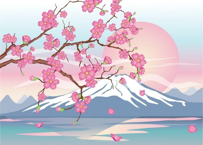 Фудзияма и Цветущая Вишня