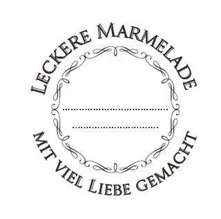 Marmelade hübsch verpackt - etiketten