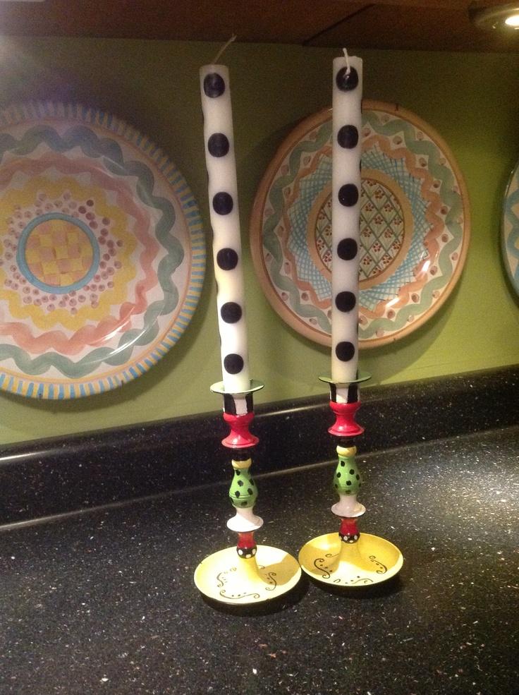 candle sticks I painted