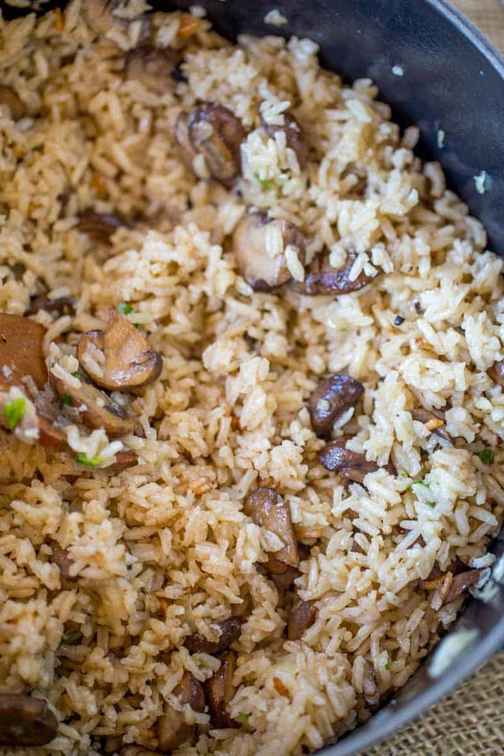 Easy mushroom rice – Dinner and Dessert   – Food & Drinks