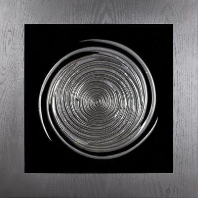 Obraz przestrzenny Galaxy   Ten obraz przestrzenny zawiera ręcznie wykonaną rzeźbę zainspirowaną galaktyką. Kompozycja kontrastuje z ciemnym tłem tworząc efekt głębi. Materały dopełniają się nawzajem by stworzyć idealną dekorację do każdej przestrzeni i wnętrza. Obraz przestrzenny będzie fantastycznym dopełnieniem każdego nowoczenego wnętrza i kapitalnie sprawdzi jako element podkreślający styl w Państwa domu.