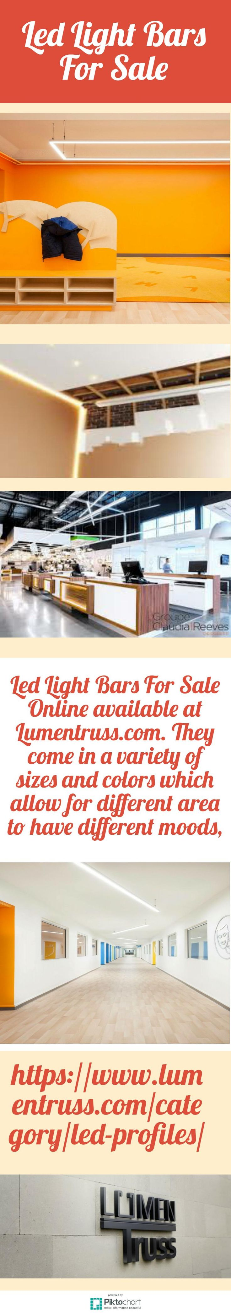 We provide Led Light Bars For Sale Online. They are powerful and effective additions to decorate your home or office. For more information, visit our website:  https://www.lumentruss.com/category/led-profiles/