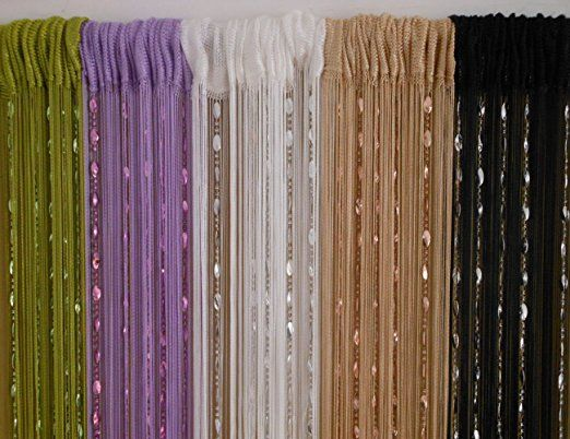 Amazon.com: ZideTang Beaded Door Curtain Tassel Divider Color Champagne: Kitchen & Dining