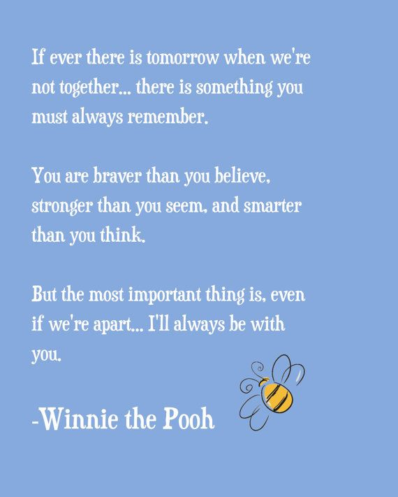 Winnie the Pooh Quote Print by ajsterrett on Etsy, $18.00