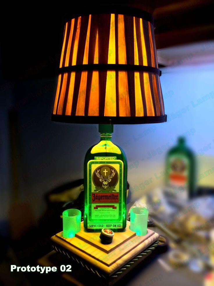 Jäger Lamp for sale in early 2014. Prototype 2 full pic with Jager shot glasses. Jagermeister Lamp #jagerlamp . See more info at https://www.facebook.com/JagerLamp   #JagerLampe #JagerLeuchte #JagerLaterne #JagerScheinwerfer #JagerRucklicht #JagerTaschenlampe #JagerHohensonne #JagerLicht