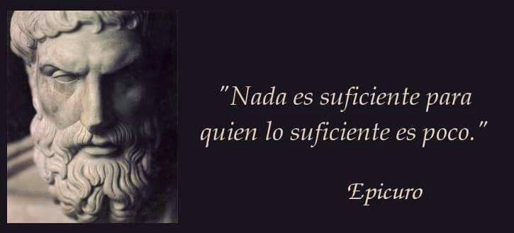 Lo suficiente por Epicuro