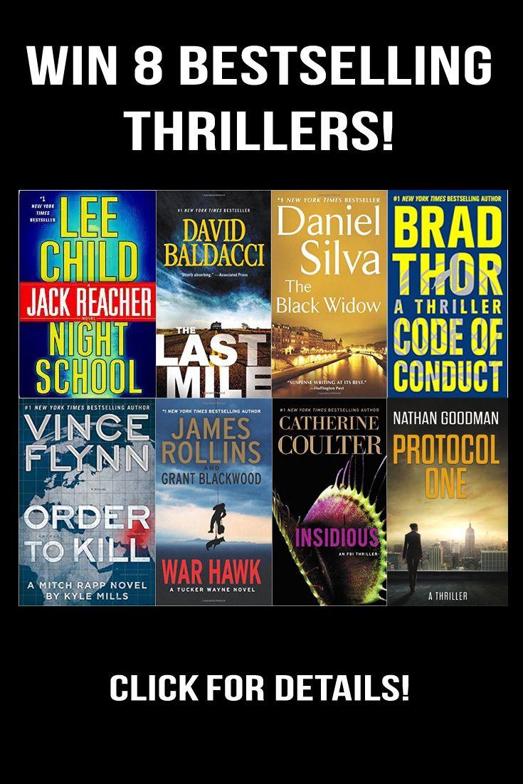 Win 8 Paperback Thriller Novels!