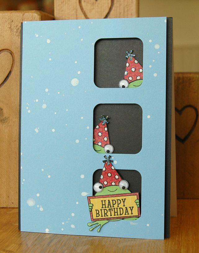 Handmade Birthday Card with Wiggle Eyes