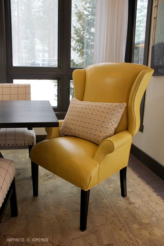 12 best yellow chairs images on pinterest yellow chairs - Yellow leather living room furniture ...
